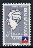 49541 Ecuador - Galapagos 1963 Gabriela Mistral 2s With Surch & ECUADOR Omitted,  ISLAS GALAPAGOS (poetry  Literatur - Ecuador