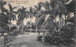 "08431 ""CUBA - HABANA - PARQUE DE COLON - COLUMBUS PARK""   ANIMATA. CART  SPED 1929 - Cuba"