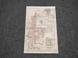 ANTIQUE ASIA BIRMANIA MANDALAY CITY SMALL MAP 1930'S - Cartes