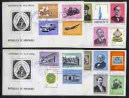 44608 Honduras 1966 Stamp Centenary (flags Railways Motorbikeaviation Postal Stamp On Stamp UPU Rowland Hill) 4 FDCs - Honduras