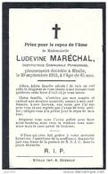 ETALLE ..-- Melle Ludevine MARECHAL , Institutrice Communale Pensionnée . 1854 - 1915 . - Etalle