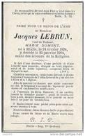 ETALLE ..-- Mr Jacques LEBRUN , Veuf De Mme Marie DUMONT . 1824 - 1904 . - Etalle