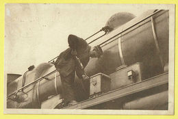 * Trein - Train - Zug * (Nels, Photo Achel, Nr 63-1980) Chemin De Fer, Pendant L'aret, Stoomtrein, Locomotive, TOP - Trains