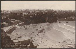 Towan Beach, Newquay, Cornwall, 1917 - Dainty Series RP Postcard - Newquay