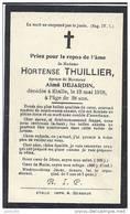 ETALLE ..-- Mme Hortense THUILLIER , épouse De Mr Aimé DEJARDIN . 1880 - 1918 . . - Etalle