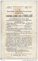 ETALLE ..-- Mme Lucienne - Jeanne - Emilie THUILLIER . 1904 - 1917 . - Etalle