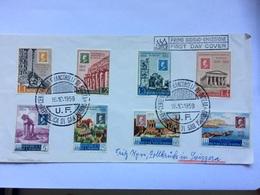 SAN MARINO 1959 FDC - Sicily Stamp Centenary - Sent To Zollbruck Switzerland - Saint-Marin