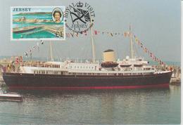 Jersey Carte Maximum 1989 Visite Royale Bateau Britannia 478 - Jersey