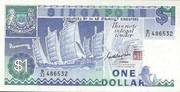 SINGAPORE 1 DOLLAR ND (1987) P-18a AU/UNC  [SG119a] - Singapore