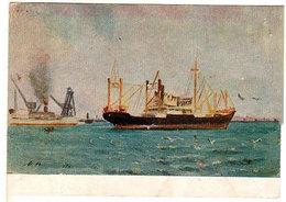 I. F. Titov. Steamboat Maxim Gorky. - Piroscafi