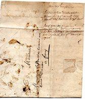 Correspondance Du 27 Août 1720 De VILLENEUVE Pour FAY, Sans Marque - 1701-1800: Precursors XVIII