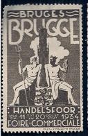 BELGIQUE - BRUGES (BRUGGE) - FOIRE COMMERCIALE (HANDELSFOOR) - 1934. - Vignettes D'affranchissement