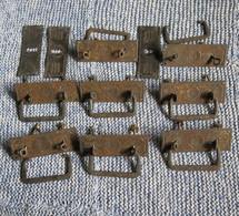 N ° 8 Maniglie In Ferro E Ottone Patinato Con 3 Bocchette - - Mobili
