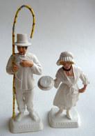 FIGURINE PUBLICITAIRE MOKAREX - PROVINCES DE FRANCE -  2 FIGURINES COUPLE  LORRAIN Lorraine - Figurines