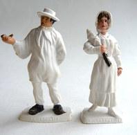 FIGURINE PUBLICITAIRE MOKAREX - PROVINCES DE FRANCE -  2 FIGURINES COUPLE BOURBONNAIS - Figurines