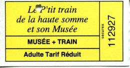 Le P'tit Train  De La Haute Somme Et Son Musée - Chemins De Fer