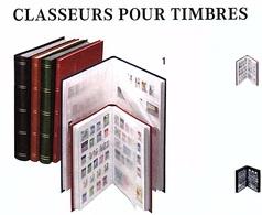 CLASSEUR A 10 BANDES AVEC SEPARATION CENTRALE LINDNER Réf. 1167 -  64 Pages Fond Blanc à - 50 % Couverture Bleue - Albums à Bandes