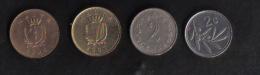 MALTA -  SET OF 4 MALTA COINS / - Malte