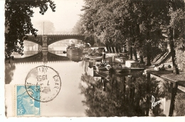 Cp 94 Charenton-le-pont - Chalands Sur Le Canal - Charenton Le Pont