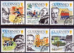 GUERNSEY 1999 SG 838-43 Compl.set Used Royal Military Academy, Sandhurst - Guernsey