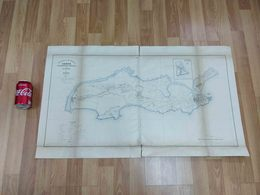 ANTIQUE ASIA PORTUGUESE  INDIA  DIU DISTRICT BIG MAP 1911 - Autres