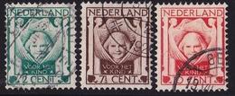 1924 Kinderzegels Gestempelde Serie NVPH 141 / 143 - 1891-1948 (Wilhelmine)