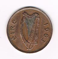 =&   IERLAND  1 PENNY  1963 - Irlande