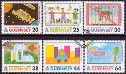 GUERNSEY 2000 SG 851-56 Compl.set Used New Millenium - Guernsey