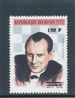 Bénin 2000  (  150F/270F  - Alexander  Alekhine Joueur D'Echec)  **  Luxe   RARE - Scacchi