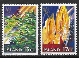 Islande 1987 N° 631/632 Neufs Noël - 1944-... Republik