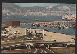 Hong Kong 1976 Postcard To Portugal W/Macau Stamp (2) - Otros