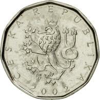 Monnaie, République Tchèque, 2 Koruny, 2002, SUP, Nickel Plated Steel, KM:9 - Tchéquie