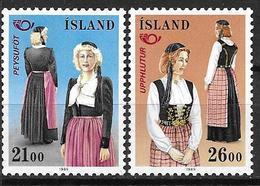 Islande 1989 N° 652/653 Neufs Norden Costumes Traditionnels - 1944-... Republique