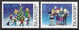 Islande 1990 N° 689/690 Neufs Noël - 1944-... Republik