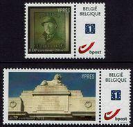 Belgien Belgie Belgium 2014 - Ypres - MiNr 4368 II Nassklebende Marke ! Met Gom ! - RARE Selten ! - Abarten Und Kuriositäten