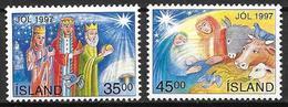 Islande 1997 N°833/834 Neufs Noël - 1944-... Republik