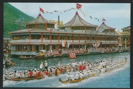Hong Kong 1976 Postcard To Portugal W/Macau Stamp (7) - Otros