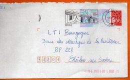 39 DOLE LOUIS PASTEUR   1999 Lettre Entière 110x220 N° KK 445 - Marcofilia (sobres)