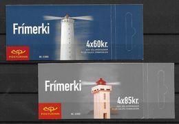 Carnets D'Islande 2002 Neufs Phares  N° C 933 Et 934 - Markenheftchen