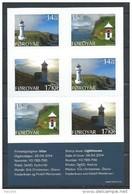 Iles Féroé 2014 Carnet C805 Neuf Phares - Faroe Islands