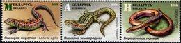 Belarus - 2018 - Reptiles - Lizards - Mint Stamp Set - Wit-Rusland