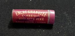 Bureau écriture Pour Plume ENCRE MIETTE PARIS Granulee Classique Violette Fixe Dose Pour 1 L / Tube Tole Avec PRODUIT - Autres