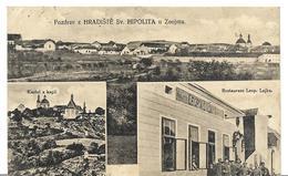 ~ JP  ~  Pozdrav  Z    Hradiste  Sv HIPOLITA    ~  Multivues    ~ Rare  ~ - Czech Republic