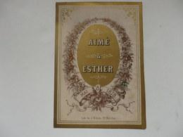 Menu Du Mariage De Aimé Et Esther Le 8 Mai 1878. - Menus