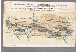 Transport - Fluss- Und Seeschiffahrts Von ZEMUN Up To TURN-SEVERIN Ca 1910 OLD POSTCARD 2 Scans - Cartes Postales