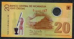 "NICARAGUA P202b 20 CORDOBAS 2007 (opaque ""20"" )  # A/1  UNC. - Nicaragua"