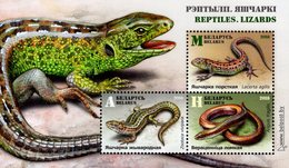 Belarus - 2018 - Reptiles - Lizards - Mint Souvenir Sheet - Wit-Rusland