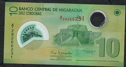 "NICARAGUA P201a 10 CORDOBAS 2007 (opaque ""10"" )  # A/1  UNC. - Nicaragua"