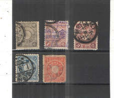 Giappone PO 1888/92 Imp.Crest.Scott.92+93+97+100+103+105+ See Scan ; - Used Stamps