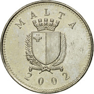 Monnaie, Malte, 2 Cents, 2002, British Royal Mint, SUP, Copper-nickel, KM:94 - Malte